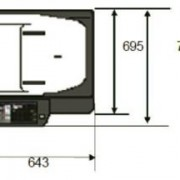 SHARP MX-5112N gabaritai