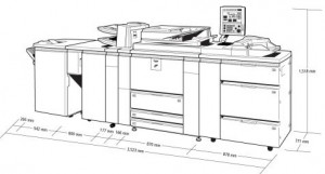 SHARP MX-M950 gabaritai